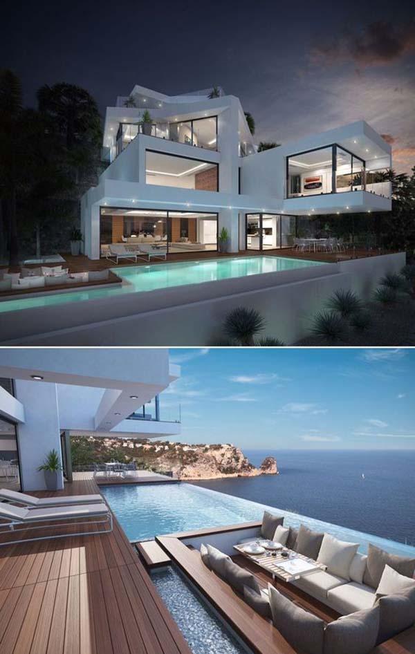 [Cận cảnh] 20 Mẫu thiết kế biệt thự hồ bơi ngoài trời Đẹp - Sang chảnh