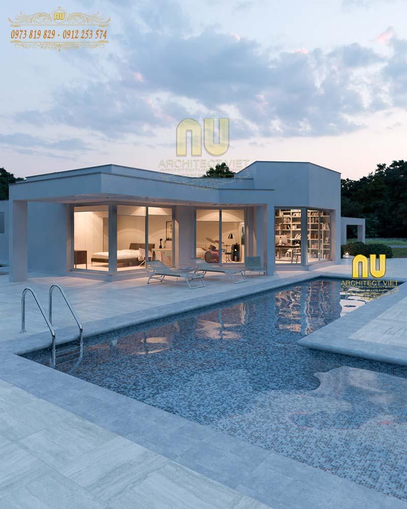 Mẫu biệt thự hiện đại tiện nghi nhằm nâng cao chất lượng cuộc sống