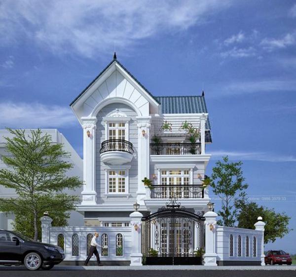 30+ Mẫu thiết kế biệt thự kiểu Pháp cổ 1-2-3 tầng Sang Trọng - Cao Cấp
