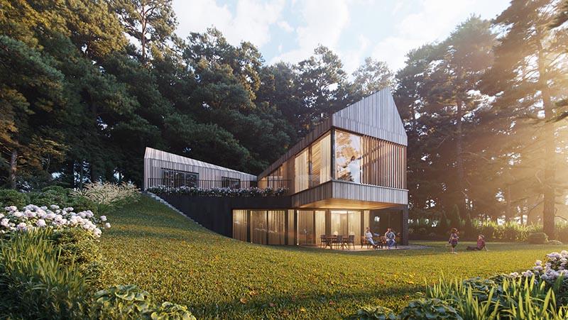 Mẫu thiết kế biệt thự trên đồi