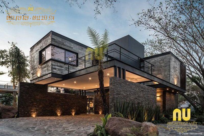 thiết kế biệt thự trên đồi