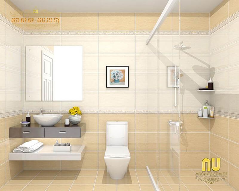 phòng tắm đơn giản mà đảm bảo tính tiện nghi cao cho gia đình khi sử dụng