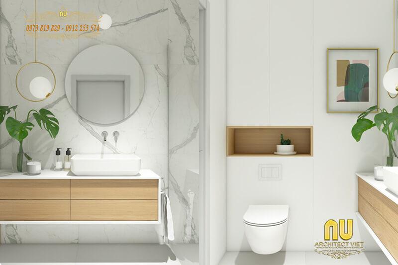 nội thất phòng tắm đẹp tạo sự thoải mái, dễ chịu cho người dùng