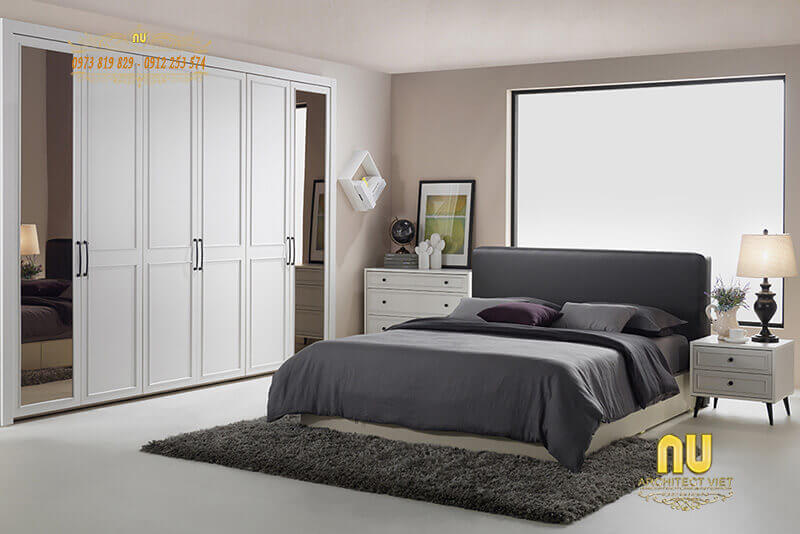nội thất phòng ngủ đẹp đơn giản mà tiện nghi