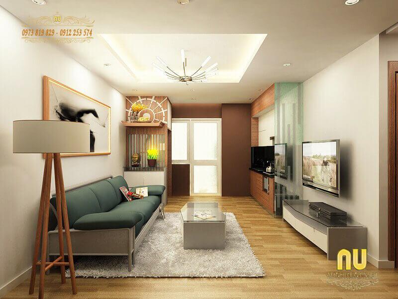 nội thất đơn giản mà tiện nghi