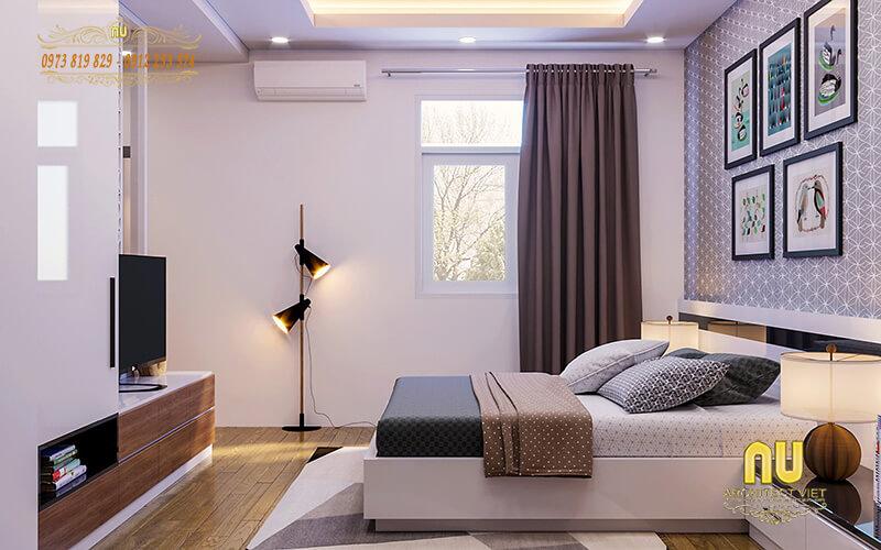 Mẫu thiết kế nội thất phòng ngủ chú trọng sự tối giản mà vẫn đảm bảo tiện dụng