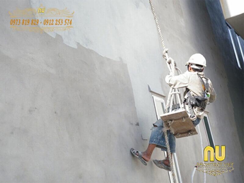 chống thấm từ bên ngoài cho tường
