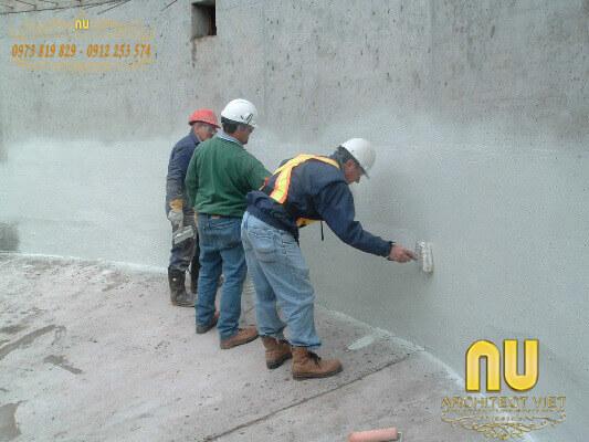 xử lý tường bị thấm nước từ bên trong