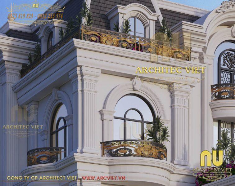 mô hình biệt thự 5 tầng 280m2