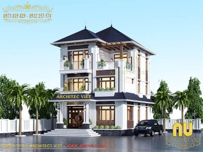 tư vân thiết kế biệt thự hiện đại 3 tầng đẹp