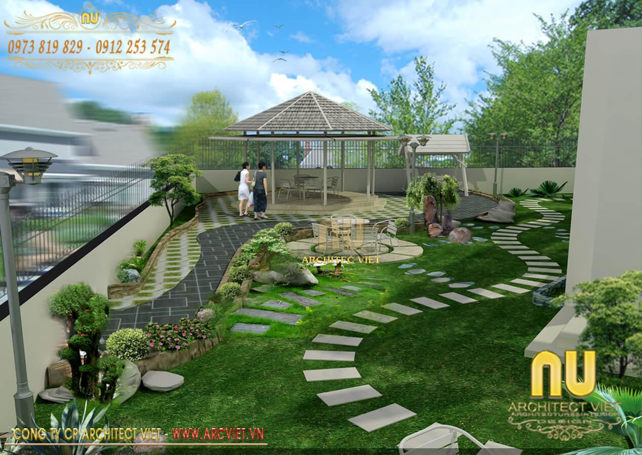 những nguyên tắc khi thiết kế cảnh quan sân vườn