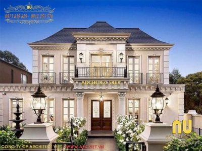 thiết kế biệt thự cổ điển sang trọng, đẳng cấp