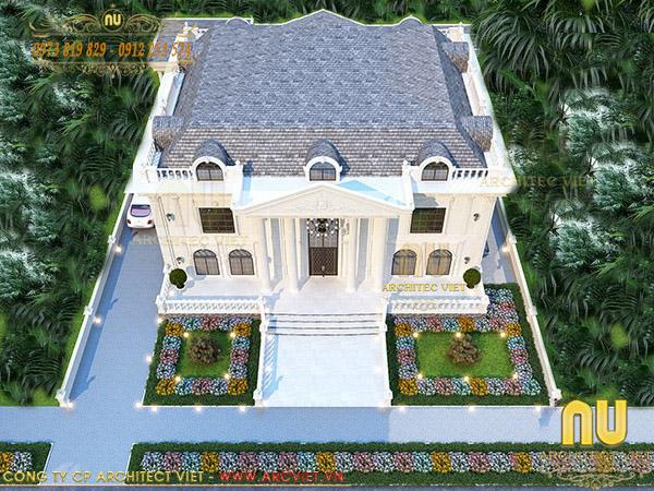Thiết kế biệt thự Tân cổ điển đẹp