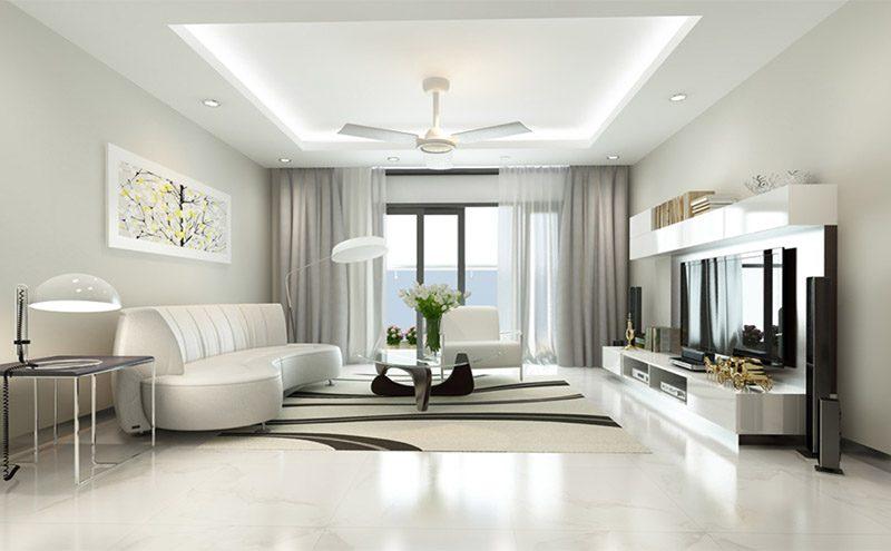 mẫu thiết kế nội thất biệt thự tối giản