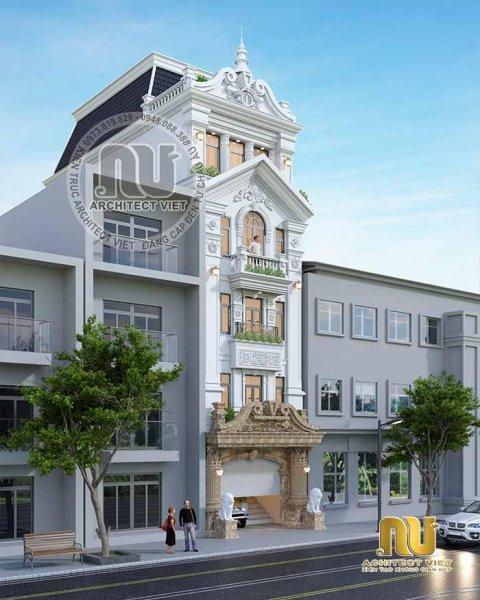 Mẫu nhà phố 6x25 mang phong cách cổ điển