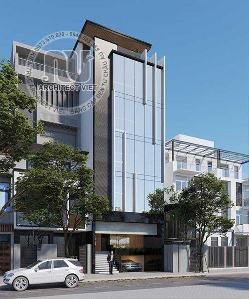 Mẫu nhà phố kết hợp văn phòng siêu ấn tượng ở Hà Nội.