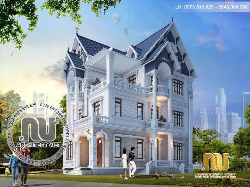 Biệt thự pháp 3 tầng cuốn hút ở Ninh Bình.
