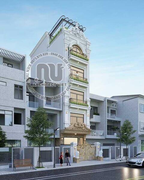 Phối cảnh 3D ấn tượng đến từng góc cạnh của thiết kế nhà phố đẹp.