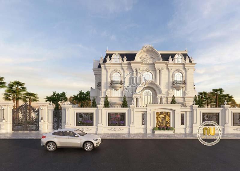 Mẫu biệt thự Pháp đẹp 3 tầng 1 tum đẳng cấp, sang trọng.