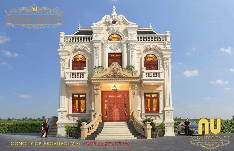 Mẫu biệt thự cổ điển sở hữu vẻ đẹp cuốn hút, kiều diễm.