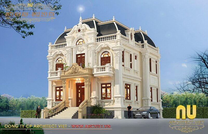 Vẻ đẹp của mẫu biệt thự cổ điển khiến bất cứ ai cũng rung động vì quá hoàn mỹ.