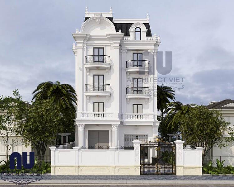 Mẫu biệt thự phố sở hữu nét đẹp của kiến trúc tân cổ điển làm bao người say đắm.