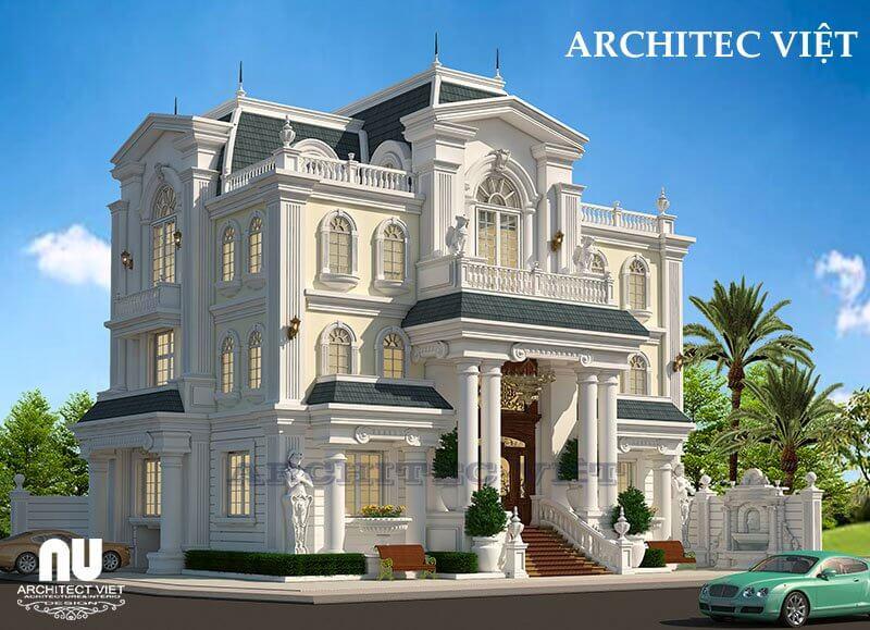 Biệt thự tân cổ điển được thiết kế theo phong thủy.