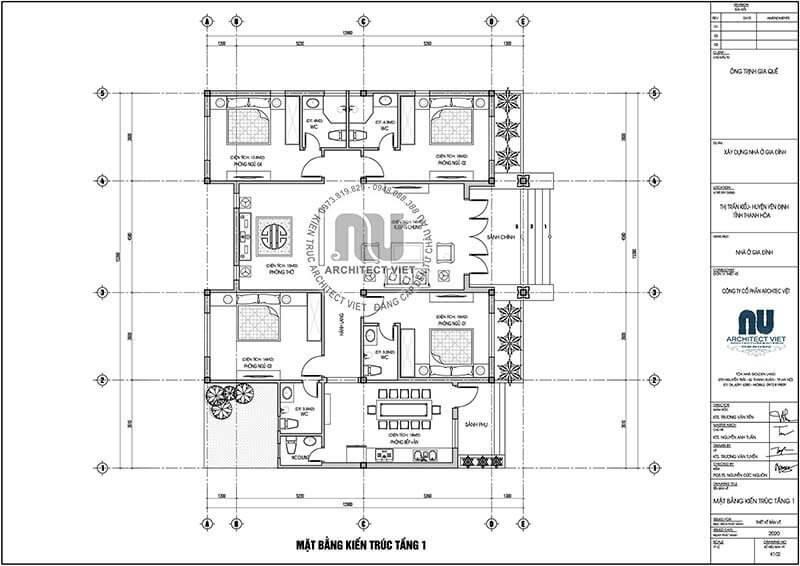 Mặt bằng kiến trúc được phân chia đảm bảo tối ưu diện tích, mang đến những không gian tiện nghi.