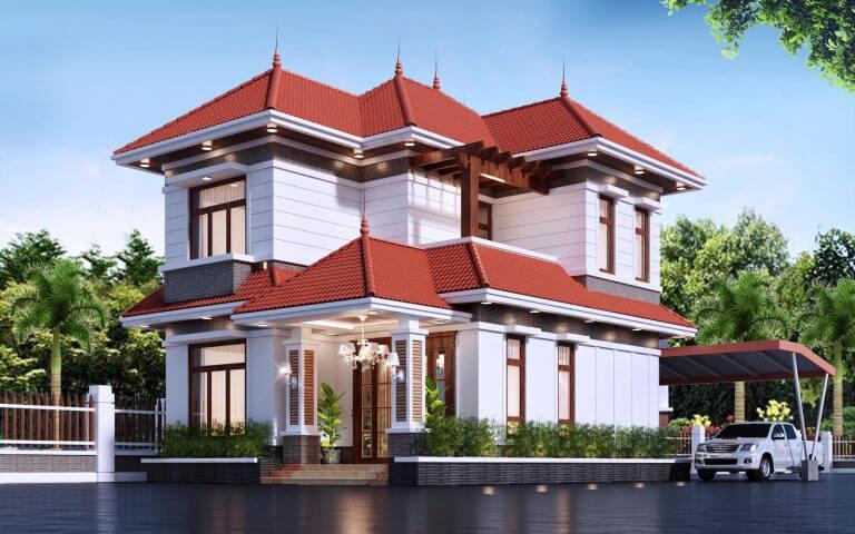 Mẫu biệt thự 2 tầng được thiết kế sang trọng, đẳng cấp.