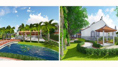 Thiết kế sân vườn nhà thờ họ tại Phú Thọ