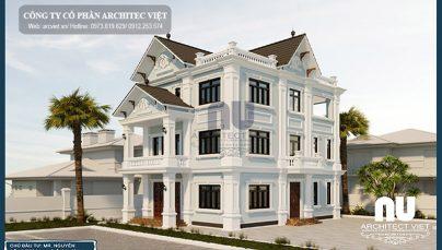 Hà Nội nổi bật với mẫu biệt thự 3 tầng tân cổ điển 10x14m sang trọng