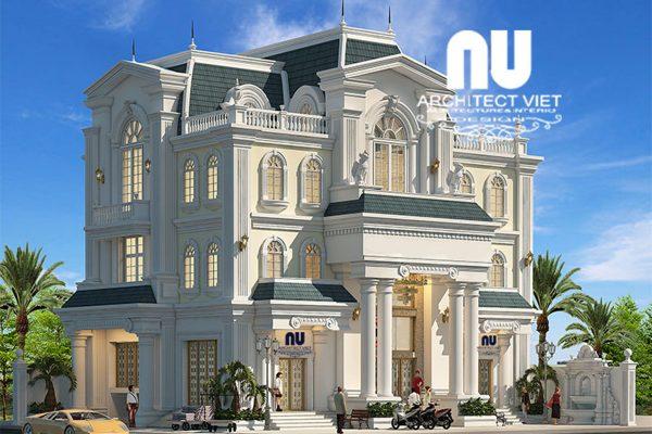 Ngắm nhìn biệt thự 3 tầng tân cổ điển 300m2 với ngoại thất tinh tế sang trọng
