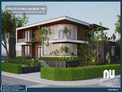 Chiêm ngưỡng mẫu biệt thự 2 tầng 300m2 hiện đại đẹp miễn chê tại Thái Bình