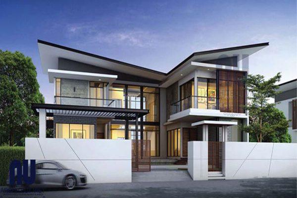 Thiết kế biệt thự 2 tầng hiện đại 350m2 hoàn mỹ đến từng chi tiết