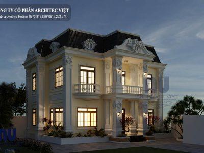 Mẫu biệt thự 2 tầng tân cổ điển 100m2 tại Ninh Bình
