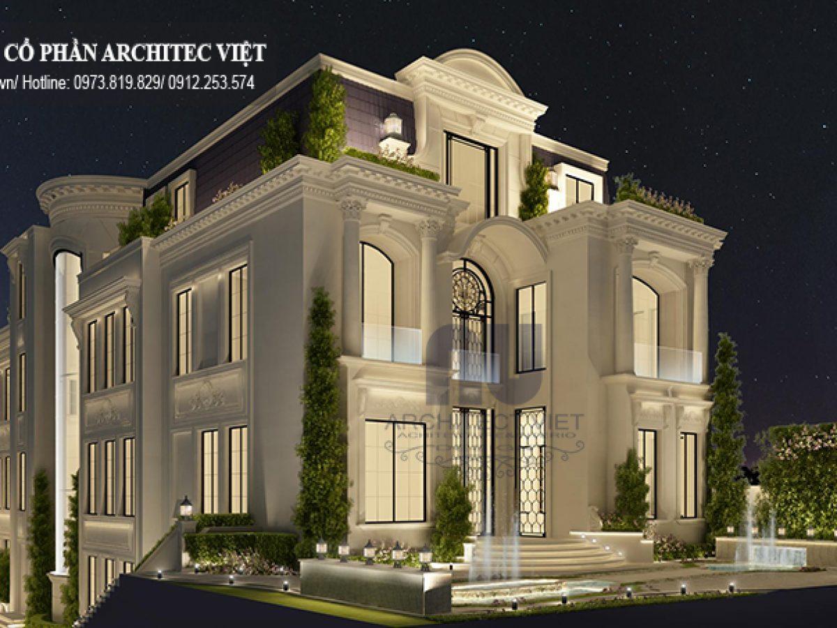 Mẫu thiết kế biệt thự 3 tầng 310m2 chinh phục mọi ánh nhìn