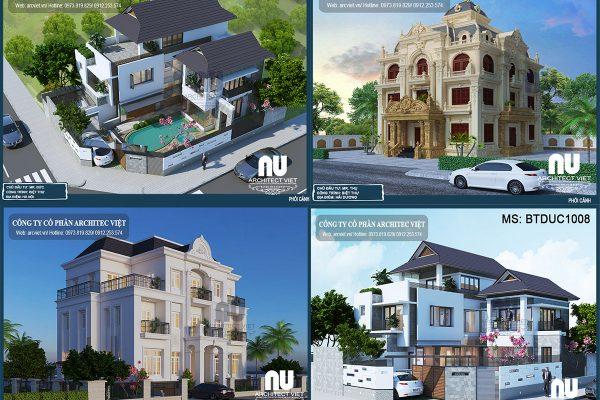 3 mẫu biệt thự 3 tầng 5 phòng ngủ được chủ đầu tư quan tâm nhất 2018