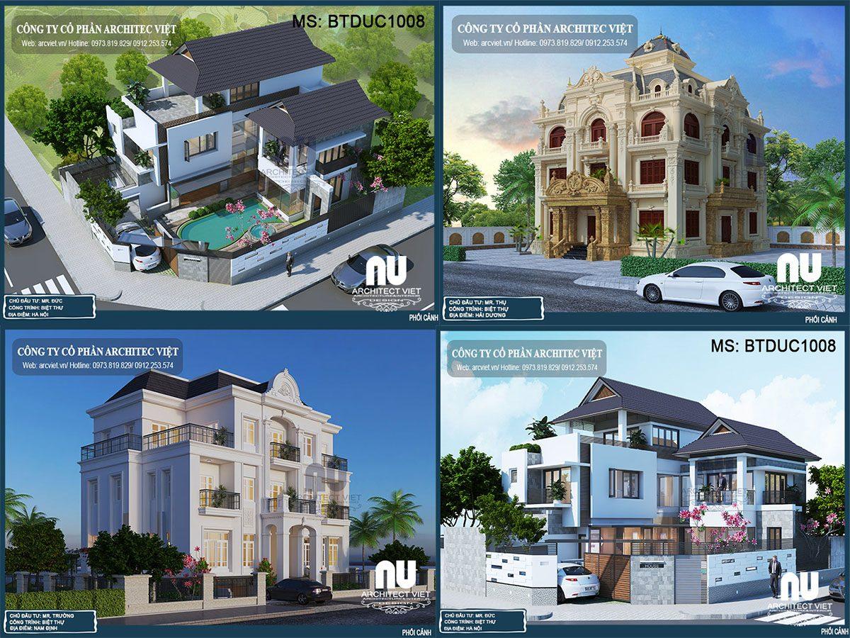 3 mẫu biệt thự 3 tầng 5 phòng ngủ được chủ đầu tư quan tâm nhất 2019