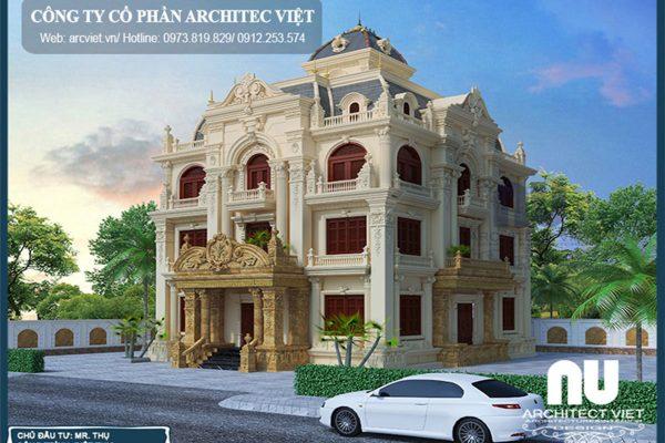 Biệt thự 3 tầng cổ điển – Kiến trúc cũ nhưng chưa bao giờ hết HOT
