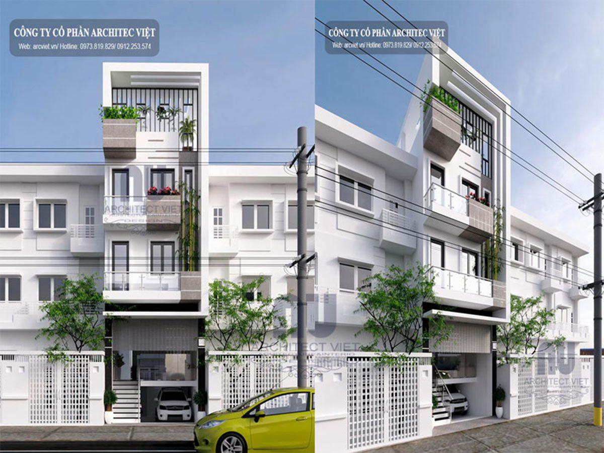 Siêu lòng với mẫu nhà phố 3 tầng hiện đại 85m2 kết hợp với không gian kinh doanh