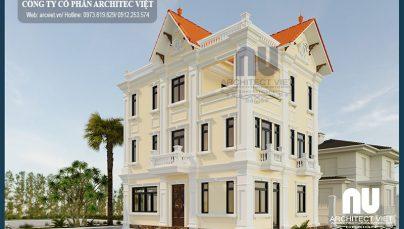 Gia Lâm Hà Nội nổi bật hơn với biệt thự 3 tầng tân cổ điển 140m2 sang trọng