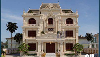 Nam Định rực rỡ với biệt thự 3 tầng tân cổ điển 4 phòng ngủ 190m2 sang trọng