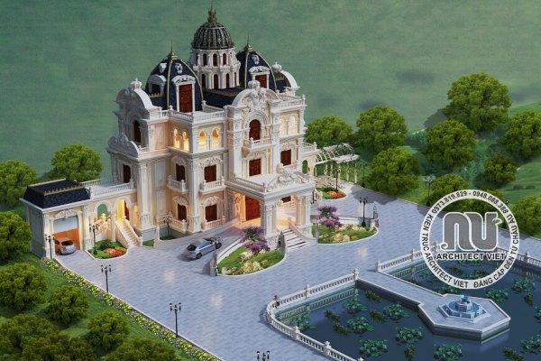 """Choáng ngợp với """"siêu"""" biệt thự cổ điển 250m2 mái lâu đài kiều diễm"""
