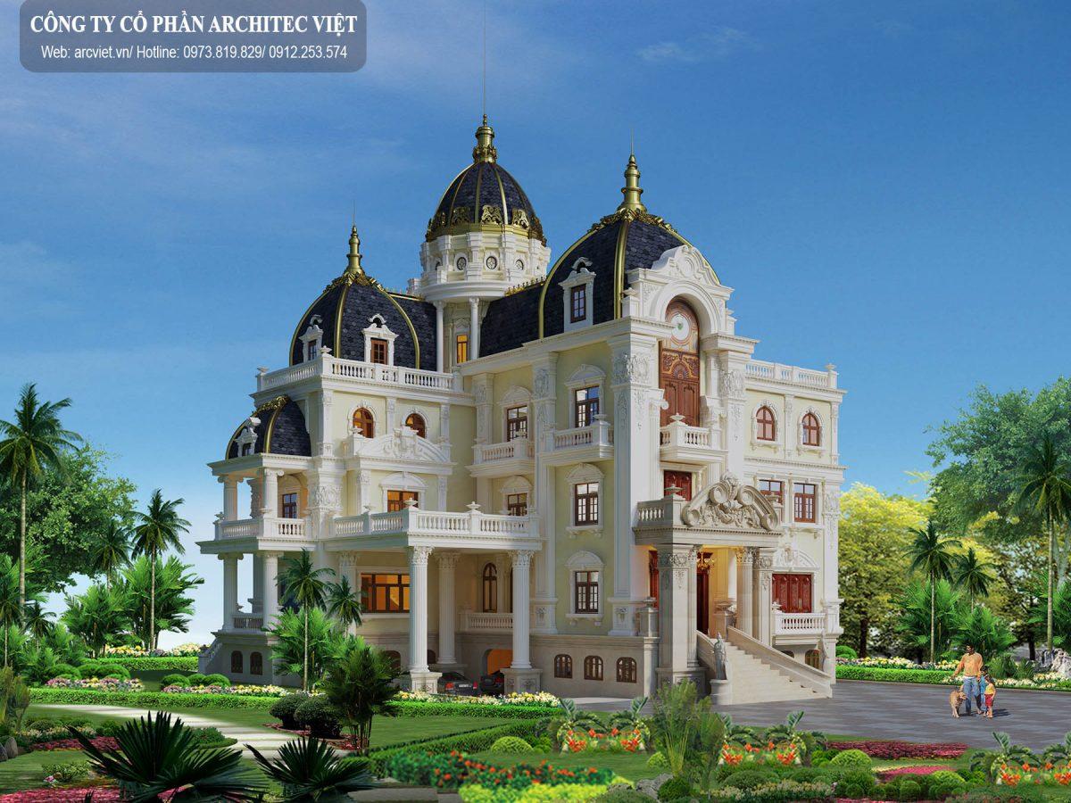 """""""Siêu"""" biệt thự lâu đài cổ điển 3 tầng 364m2 ấn tượng"""