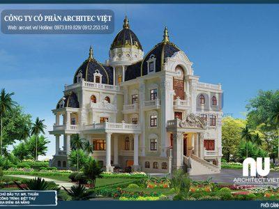 """""""Siêu""""biệt thự lâu đài cổ điển 3 tầng 364m2 ấn tượng"""