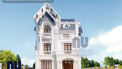 Ngôi biệt thự pháp 3 tầng mặt tiền 10m với mái thái độc đáo