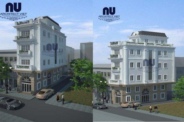 Mẫu biệt thự phố 4x14m 4 tầng tân cổ điển