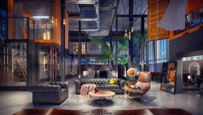 Gợi ý thiết kế phòng khách lạ lẫm với phong cách công nghiệp