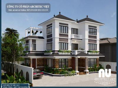 Giới thiệu mẫu biệt thự 3 tầng 125m2 hiện đại