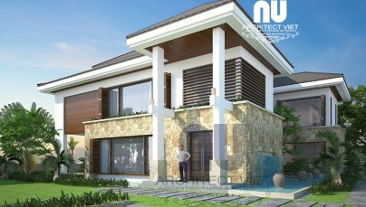 Mẫu biệt thự 3 tầng đẹp 350m2 sân vườn bể bơi Khu Đô Thị Việt Hưng